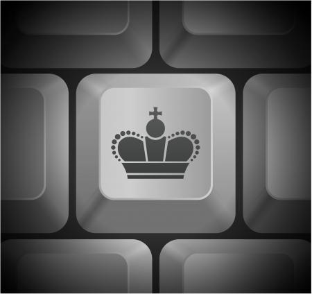컴퓨터 키보드 원래 그림 왕관 아이콘