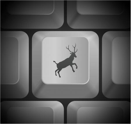 컴퓨터 키보드 원래 그림 사슴 아이콘 일러스트