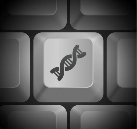 컴퓨터 키보드 원래 그림에 DNA 아이콘