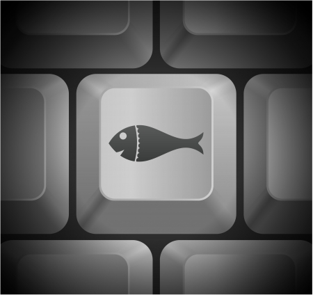 Fish Icon on Computer Keyboard