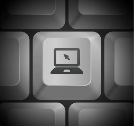 컴퓨터 키보드 원래 그림에 노트북 컴퓨터 아이콘