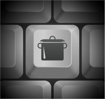 컴퓨터 키보드 원래 그림 냄비 아이콘