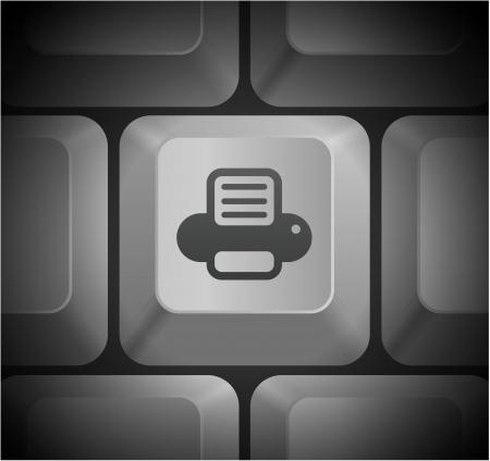 컴퓨터 키보드의 프린터 아이콘을 원래 그림