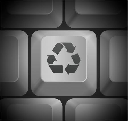 컴퓨터 키보드에서 아이콘을 재활용 원래 그림 일러스트