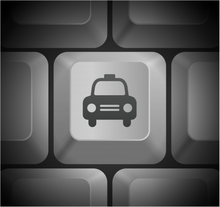 컴퓨터 키보드에서 택시 택시 아이콘 원래 그림
