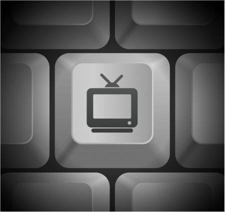 shortcut: Television Icon on Computer Keyboard Original Illustration Illustration