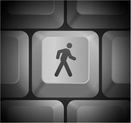 컴퓨터 키보드에서 걷는 아이콘 원래 그림