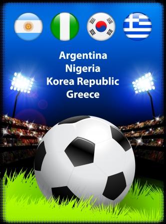 alphabet greek symbols: World Soccer Compeition Group B Original Illustration Illustration