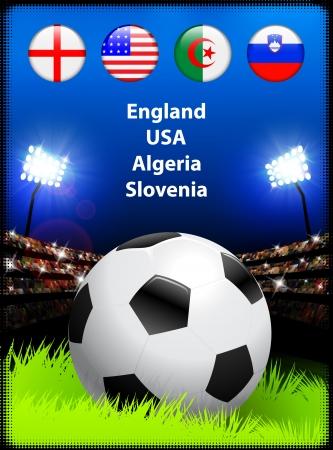 World Soccer Compeition Group COriginal Illustration Illustration