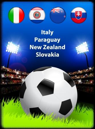 World Soccer Compeition Group F Original Illustration Vector