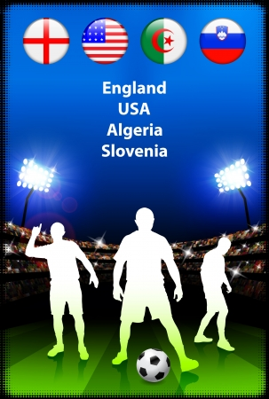 Soccer Player in Global Soccer Event Group COriginal Illustration