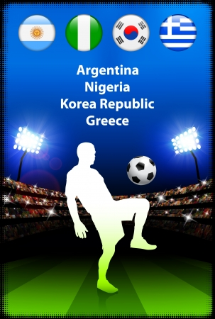 Soccer Player in Global Soccer Event Group B