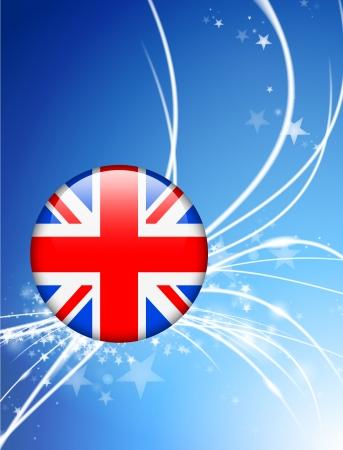bandera de gran breta�a: La bandera de Gran Breta�a en el bot�n Resumen Antecedentes Luz Vectores