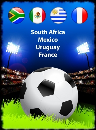 World Soccer Compeition Group A Original Illustration Vector