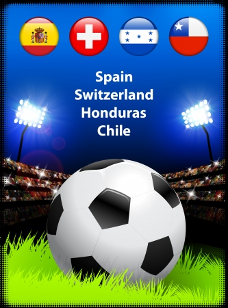 World Soccer Compeition Group H Original Illustration Vector