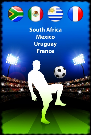 Soccer Player in Global Soccer Event Group AOriginal Illustration