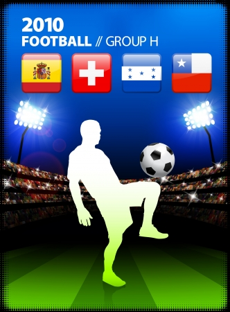 Soccer Player in Global Soccer Event Group H Original Illustration Illustration
