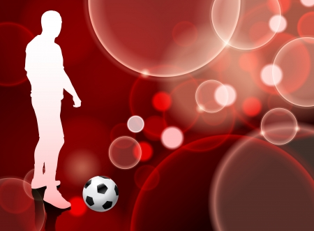 Soccer Player on Red Bubble