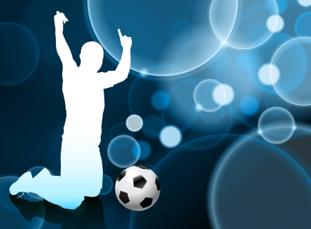 Soccer Player on Blue Bubble