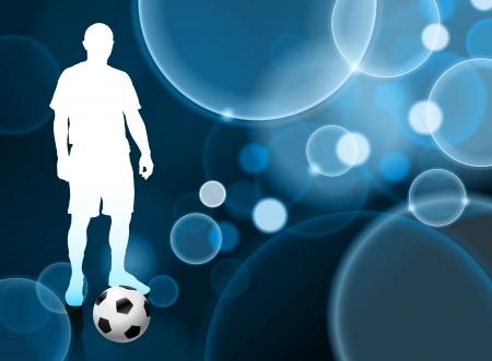 Soccer Player on Blue Bubble Stok Fotoğraf - 22423582