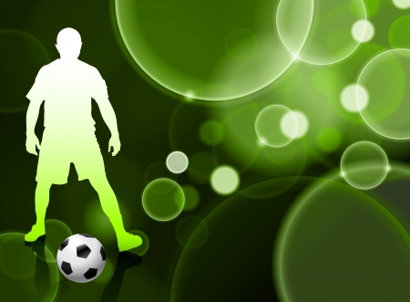 Soccer Player on Green Bubble