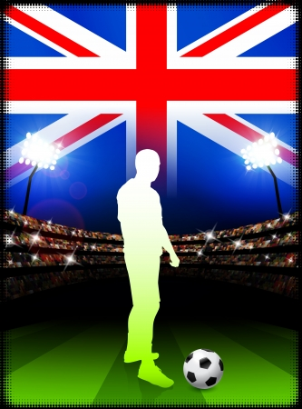 British Soccer Player in Stadium Match