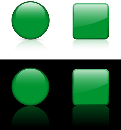 Libya Flag Buttons on White and Black Background   Vector