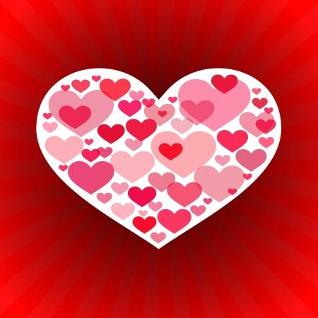 couple lit: Valentines Day Love Background  Illustration