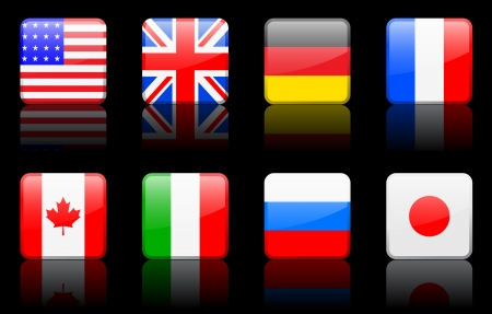world flag illustration Stock Illustratie