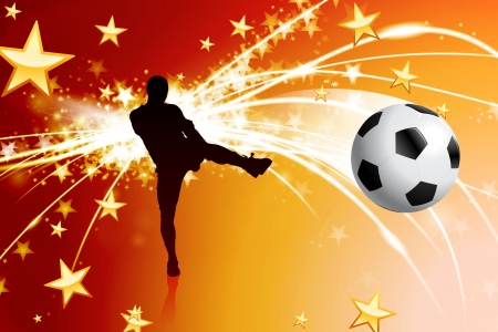 soccer goal: Soccer Player on Abstract Modern Light Background  Illustration
