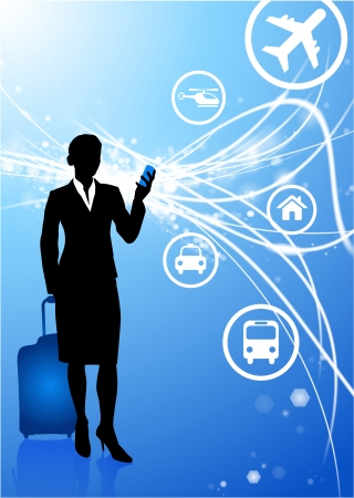 businesswoman on Abstract Modern Light Background Original Illustration Vector