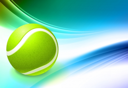 Tennis Ball on Abstract Color Background