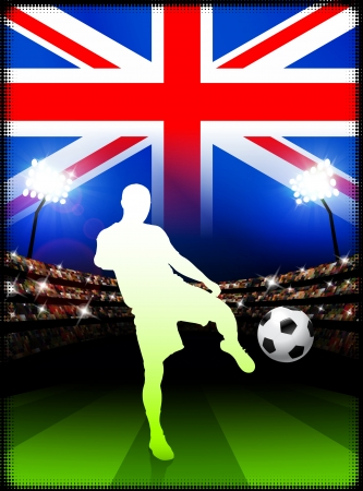 British Soccer Player in Stadium Match  Stock Vector - 22408470