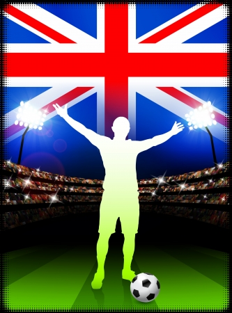 British Soccer Player in Stadium Match  Stock Vector - 22408471