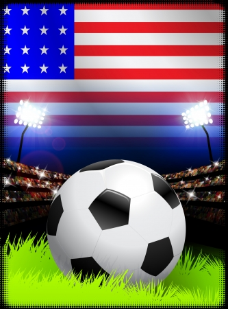 United States Soccer Match in Stadium