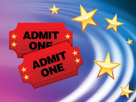 Admission Tickets on Abstract Liquid Wave BackgroundOriginal Vector Illustration Stock Vector - 22391878