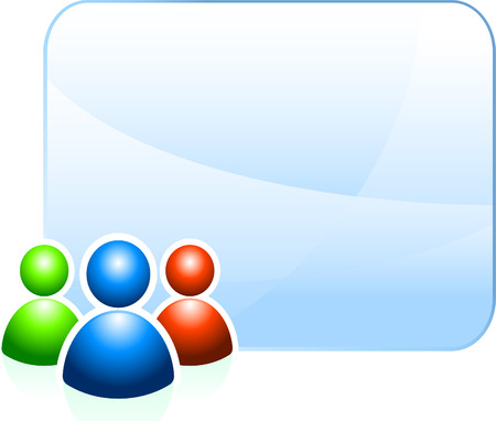 chat room: User group background with empty frame Original Vector Illustration Ideal for internet concepts