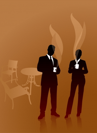 Business People on Coffee BreakOriginal Vector Illustration