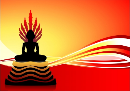 buddha image: Buddha Statue Original Vector Illustration Illustration