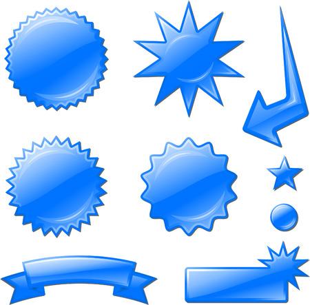 blue star burst designsOriginal Vector Illustration Design elements collection on white background