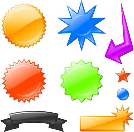 multi colored star burst designsOriginal Vector Illustration Design elements collection on white background