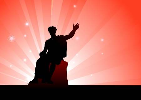back lit: Estatua de C?sar Ilustraci?n original de vectores Vectores