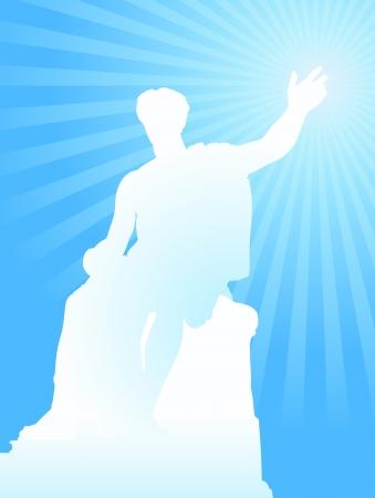 Caesar Statue Original Vector Illustration Ilustração