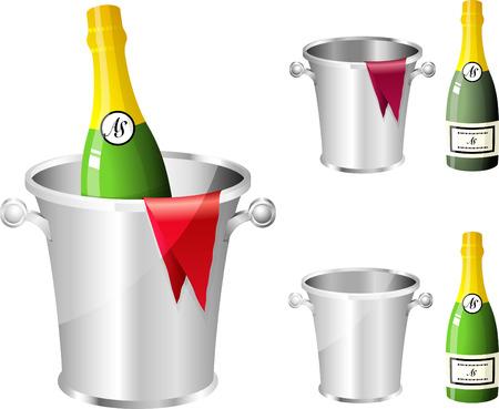 champagne celebration: Champagne Bottle Original Vector Illustration
