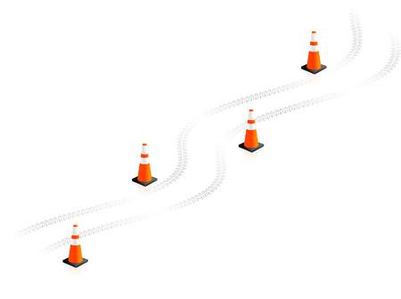 Traffic Cones Original Vector Illustration Simple Image Illustration Ilustração