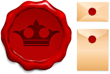Crown Wax Seal Original Vector Illustration  Vector