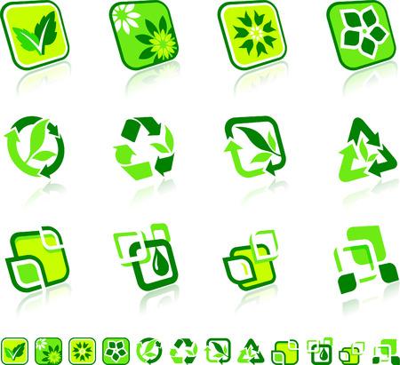 Green Nature Icons Original Vector Illustration Green Nature Concept