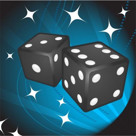 Black Dice on BackgroundOriginal Vector IllustrationDice Ideal for Game Concept Stock Vector - 22398991