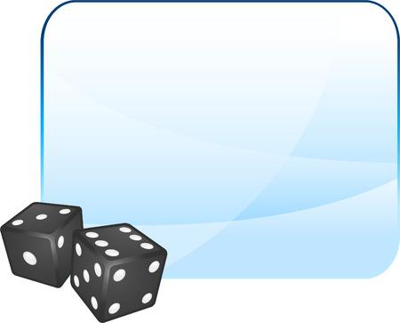Black Dice on Blank BackgroundOriginal Vector IllustrationDice Ideal for Game Concept Stock Vector - 22398993