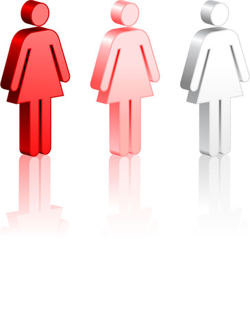 Female Stick Figures Original Vector Illustration Simple Image Illustration